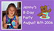 birthday party announcement picture magnet, photo, birth announcement
